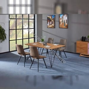 TD-1859 MDF Dining Table, Oak color veneer,low price