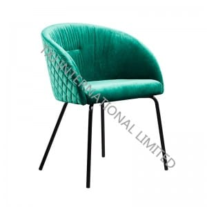 BC-1842 Green Velvet Dining Chair With Black Feet
