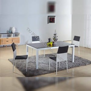 2017 wholesale price Small Coffee Table - TD-1655 Tempered Glass Dining Room Table – TXJ