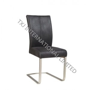 LEA Fabric Dining Chair With Chromed Frame