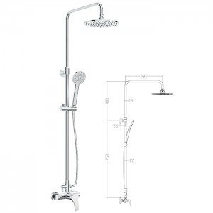 Column concealed shower L1301 shower column