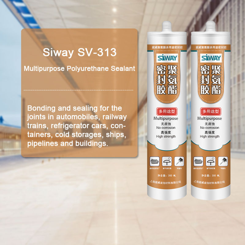 2017 Latest Design  SV-313 Multipurpose Polyurethane Sealant for Maldives Factories
