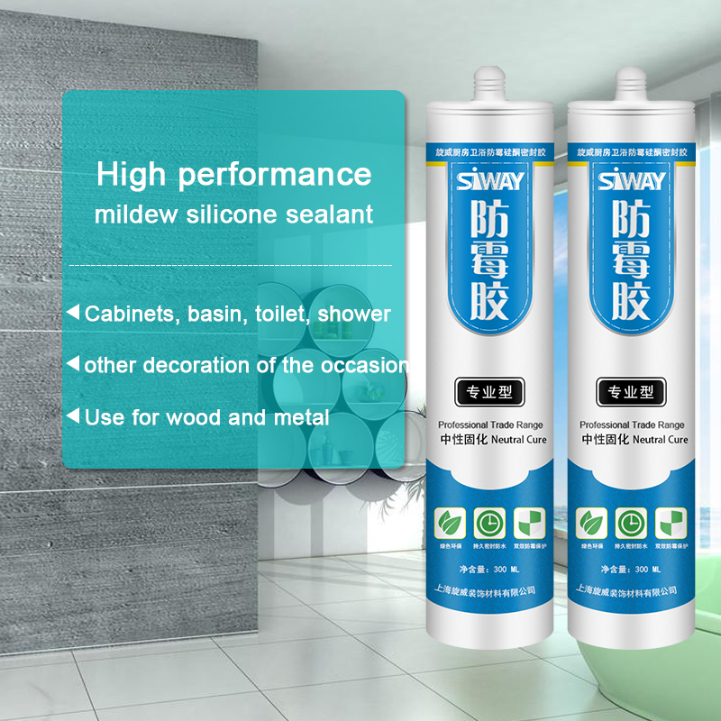 China Professional Supplier High performance mildew silicone sealant for Irish Factory