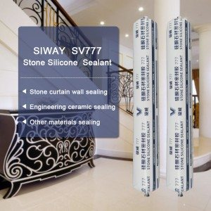 12 Years Factory SV-777 silicone sealant for stone to Milan Manufacturer