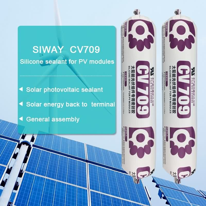 2017 New Style CV-709 silicone sealant for PV moudels for Barbados Factory