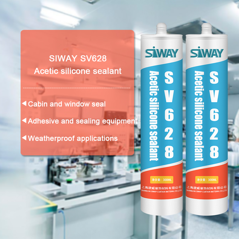 Professional Design SV-628 Acetic Silicone Sealant for luzern Factories