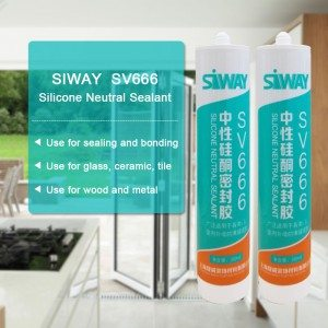 China supplier OEM SV-666 Neutral silicone sealant for French Manufacturers