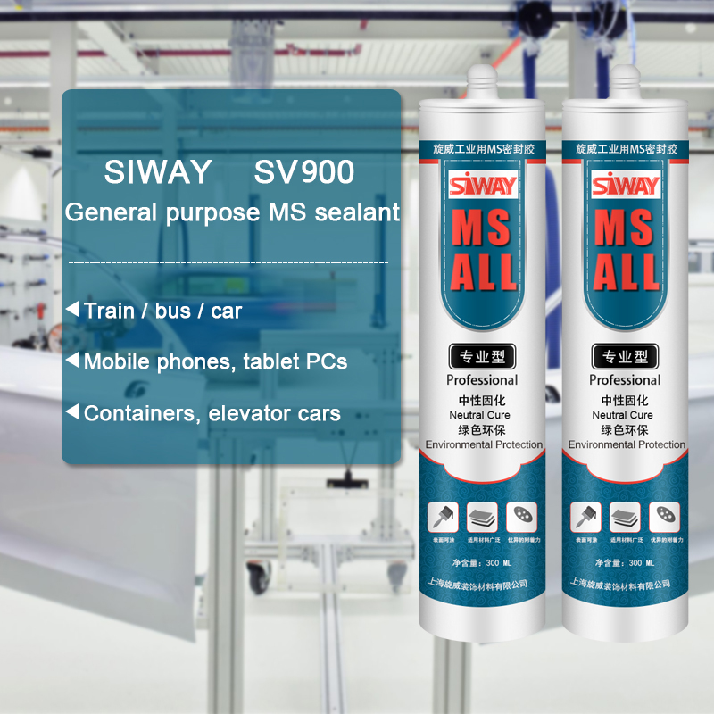 Chinese Professional SV-900 Industrial MS polymer silicone sealant to Singapore Factory
