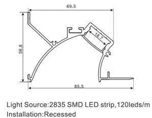 SJ-ALP8570 LED Aluminum Profile Light