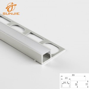 SJ-ALP3311 Aluminum led profile for 10mm Tile or Ceramic