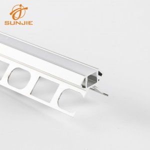 SJ-ALP3927 Architectural LED Aluminum Profile for Tile Mounted outside corner