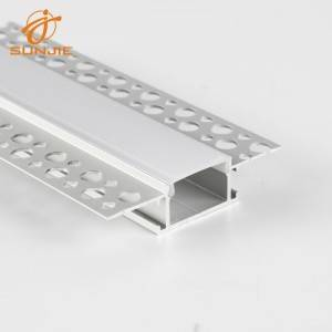 SJ-ALP6114 Standard Aluminum Led Profile in Plaster for Drywall Mounted