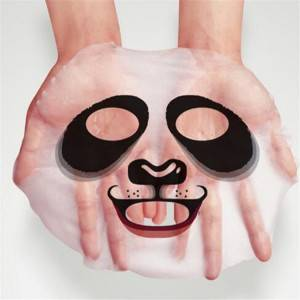 Real Painted skin animal face mask sheet