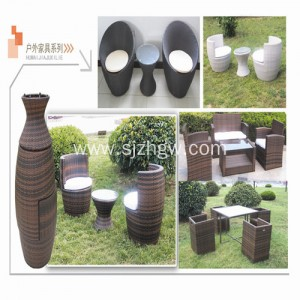Patio Rattan furniture Wicker furniture table and chairs