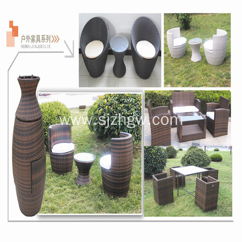Top Suppliers Cream Rattan Chair Table Set -