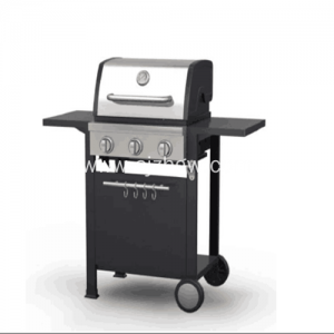 VAOVAO 3 burner Gas mitono hena BBQ Outdoor Garden Patio Grills