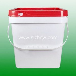 UN Certificated plastic pail 10L square pail