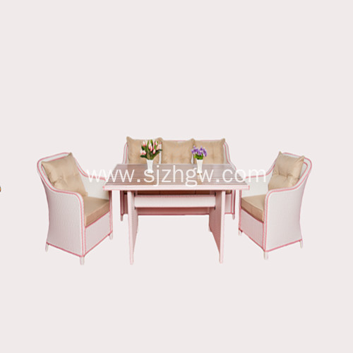 Garden furniture/rattan dining table and chairs Featured Image