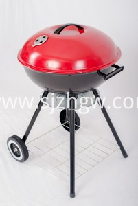 Four legs kettle barbecues customized grill with wheel