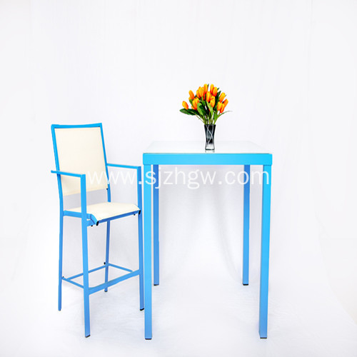 Blue Garden Patio Furniture Set Dining Set Table and Chairs Featured Image