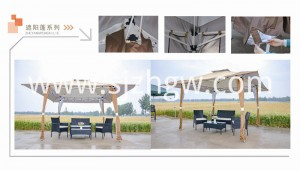 2018 High quality 3 Seater Swing Chair -