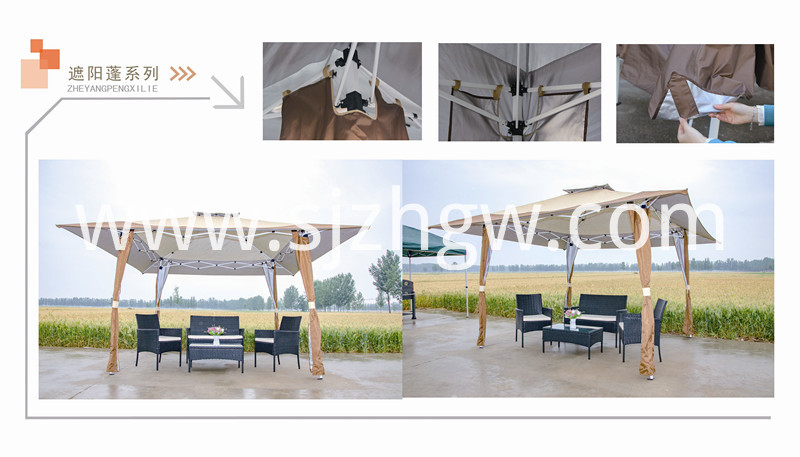 Outdoor foldable sun shade gazebo tent Featured Image