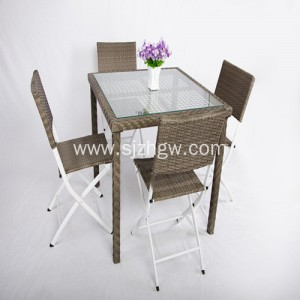 Ita gbangba Furniture Rattan wicker ile ijeun ijoko