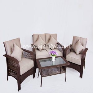 Gray nga bag-ong classic uway furniture wicker higdaanan sofa
