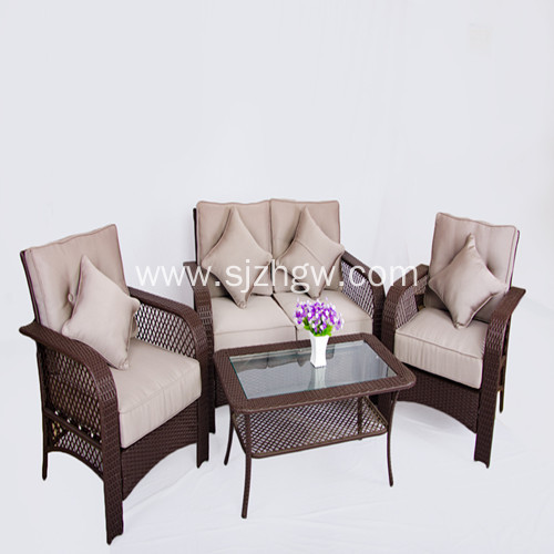 Grey new classic rattan furniture wicker couch sofa Featured Image