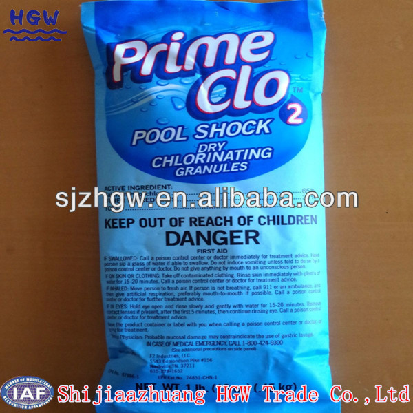 Pool shock trockenes Chlor granulare 65% 70%