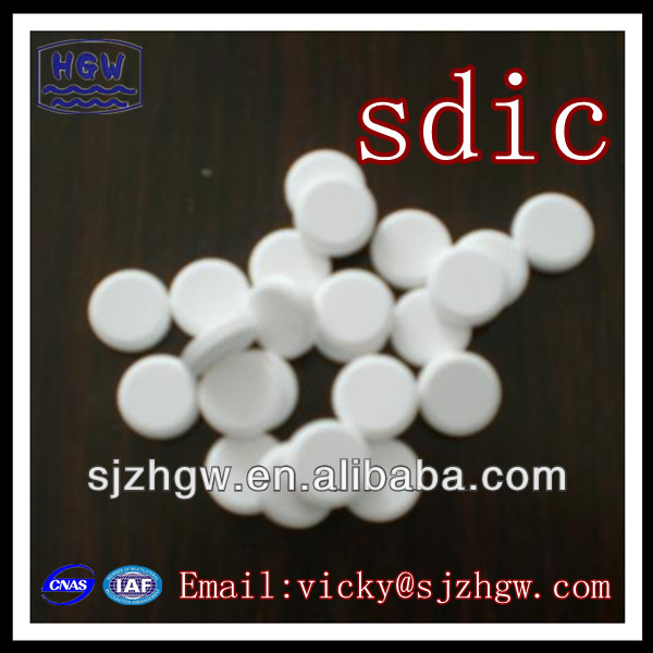 Pool water treatment SDIC 56% tablet