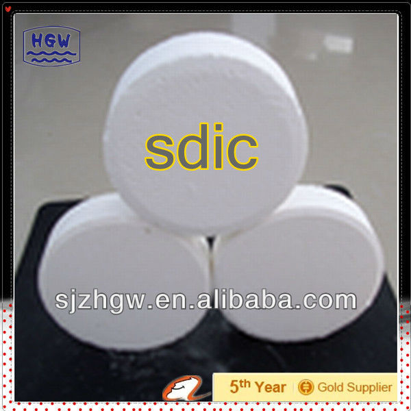 SDIC/TCCA 56% 60% swimming pool & spa chemical