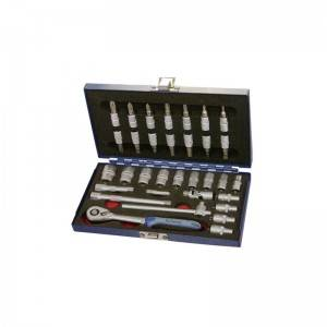TCE-013A-233 Iron tool case with Professional socket set