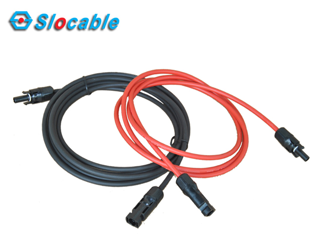 PV Cable Assemblies – L Type Extension Solar Cable with MC4 Connector