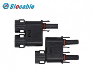 Slocable 2to1 Branch MC4 Solar Connector Ppo Tinned Copper Connector