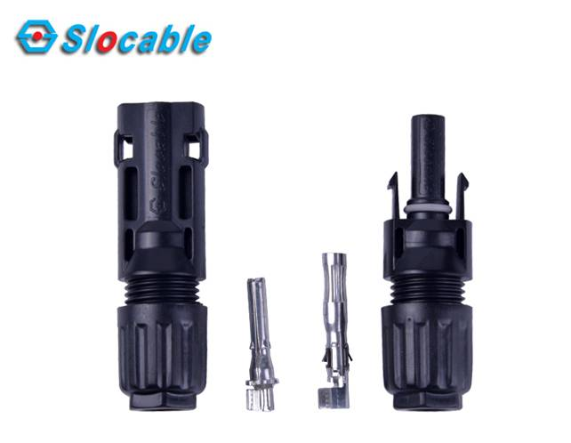 High Performance open and close solar connector -