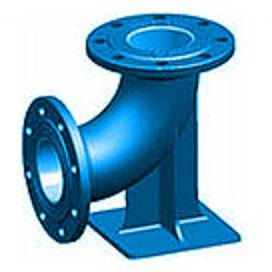 90 ° ডবল duckfoot Flanged 90 ° bends