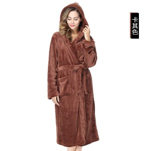 Polyester Hooded Microfiber Bathrobe