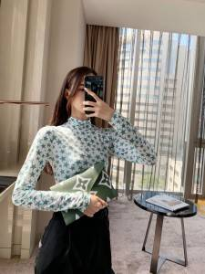 Green star 2020 autumn and winter new fashion wild turtleneck slim bottoming shirt female long-sleeved T-shirt