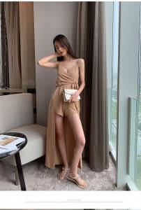 Good to wear to cry spring and summer new and very pretty French niche skirt elegant temperament jumpsuit suspender dress