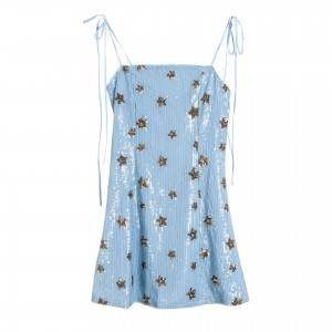 Midsummer night starry sky sequins women's camisole dress summer 2020 new Korean fashion seaside holiday dress