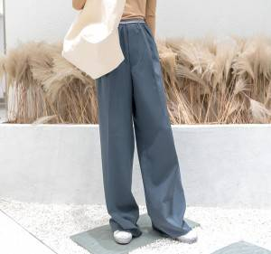 Show leg length sports wind high waist wide leg pants