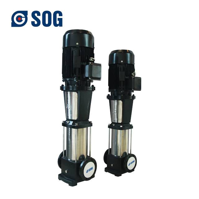 stainless steel vertical industrial centrifugal water pump for waste water treatment system and high rise building booster Featured Image