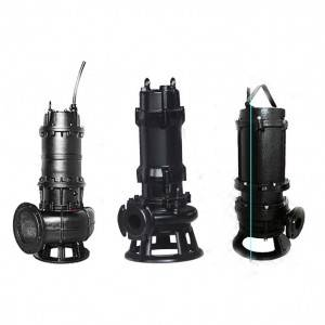 Submersible single stage centrifugal pump for sewage treatment