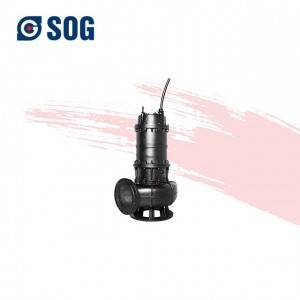 wqgs china factory single stage cutting Submersible pump for sewage treatment