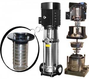 100% stainless steel vertical multistage centrifugal water pumps