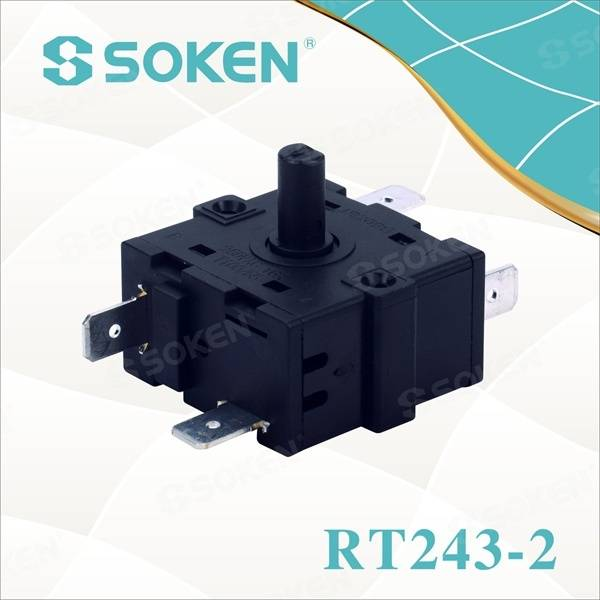 5 Position Rotary Switch with 16A 250V (RT243-2)