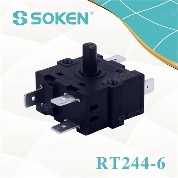 Heater Rotary Switch with 6 Pins (RT244-6)