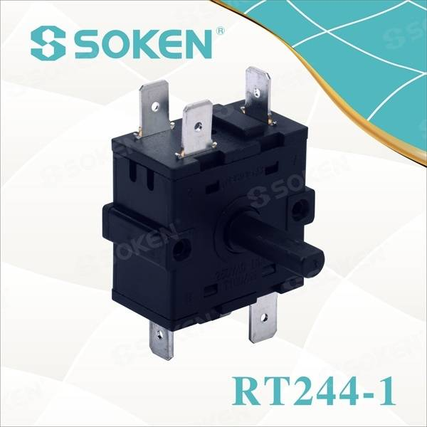 High-Tanperati Rotary switch ak 5 Pozisyon (RT244-1)