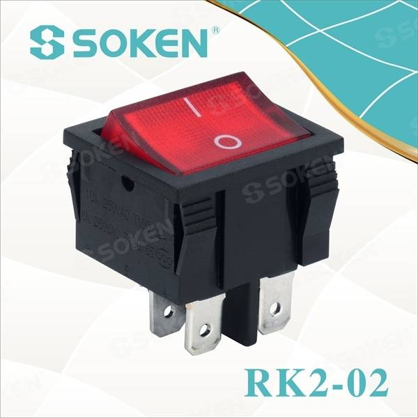 Goleuedig Rocker Switch 250VAC 10A